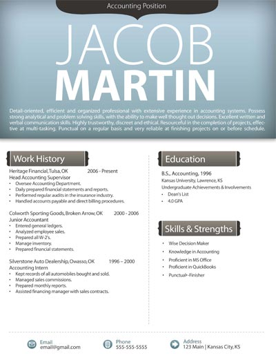 Free Resume Template 4  Free It Resume Templates
