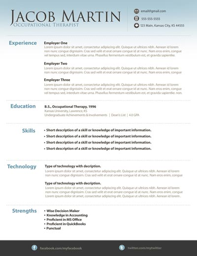 Free Resume Template 13