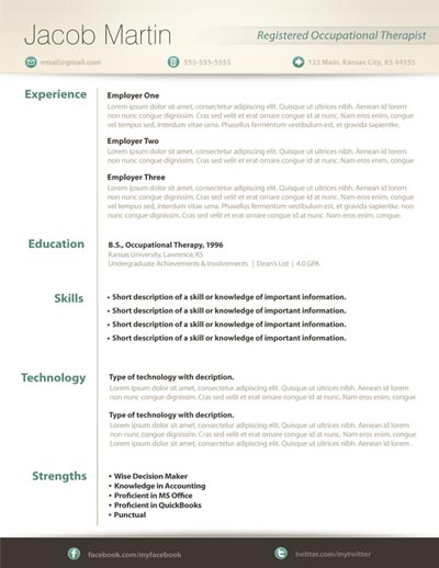 Free Resume Template 14