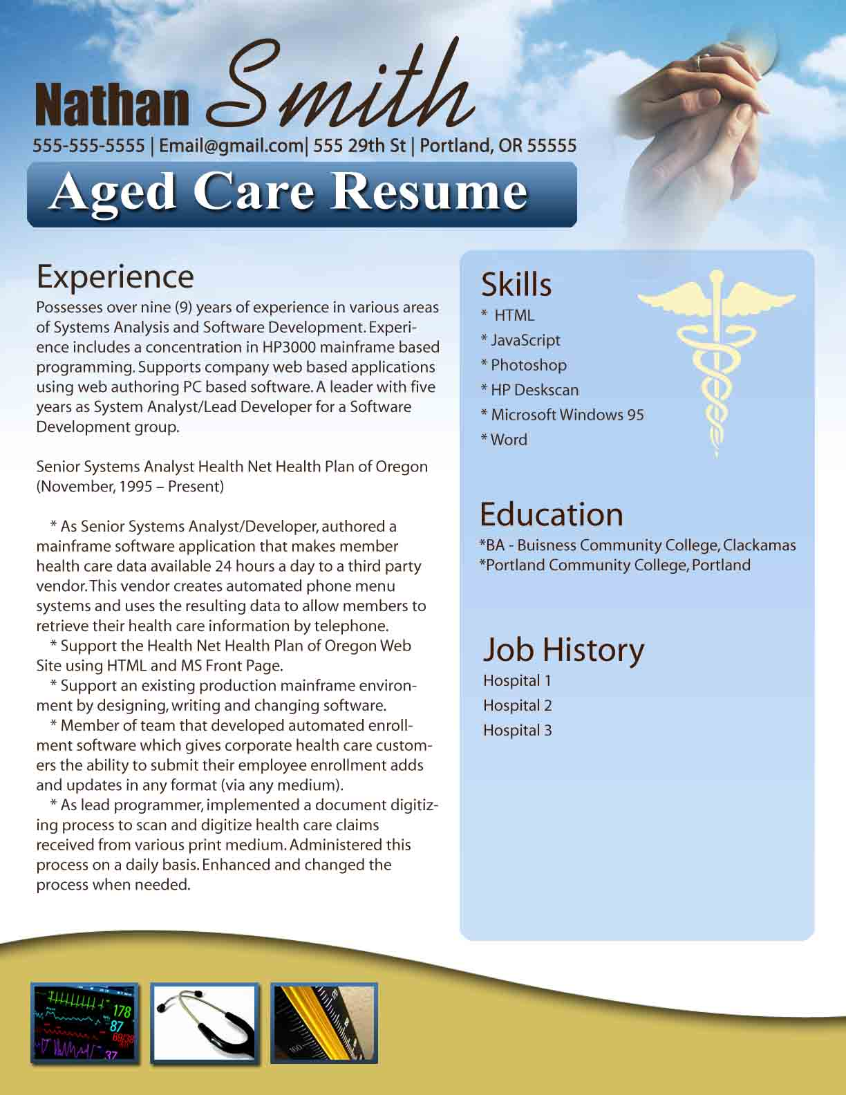 Home Health Nurse Resume Template