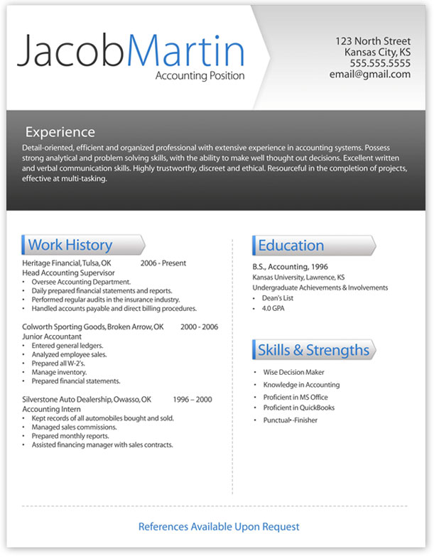 Free Word Resume Conservative And Creative Free Word Cv Template