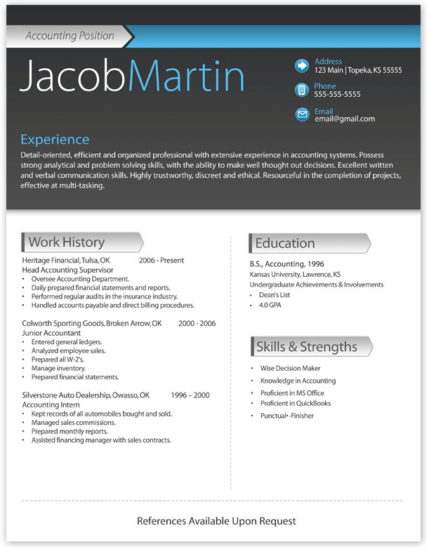12 Resume Templates For Microsoft Word Free Download Primer. The