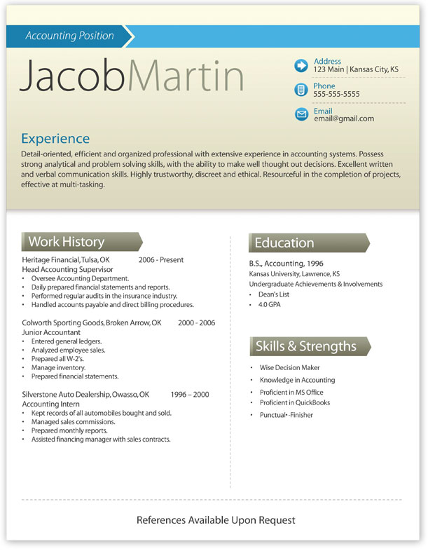 modern resume writing exles