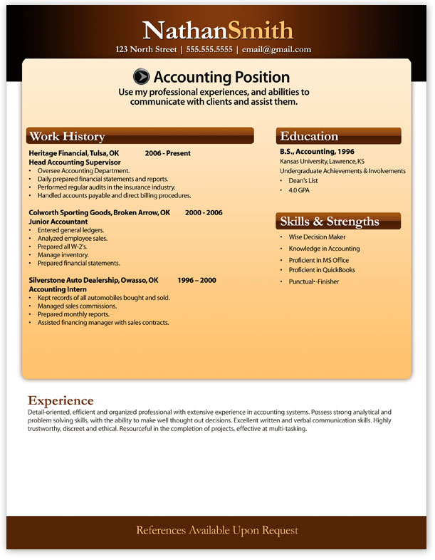 Modern2 Hi. Download Word Resume  Free Resume Pdf