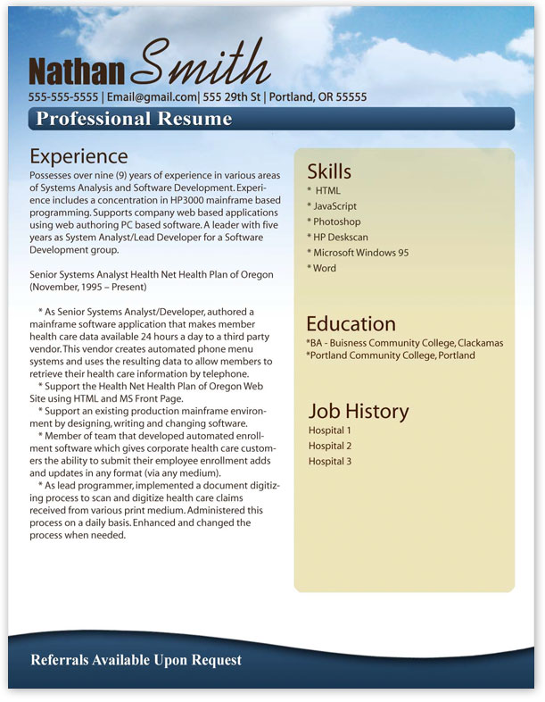 microsoft word resume download